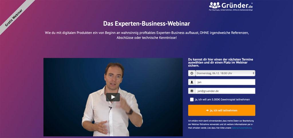 Bild Experten-Business-Webinar mit Youtube Thumbnail