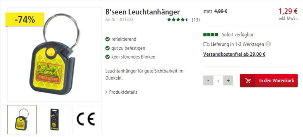 Bild B'seen Leuchtanhänger Preis-Angebot