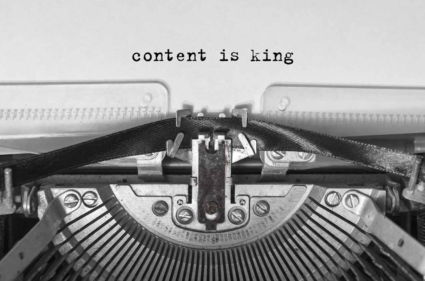 Content is King Schreibmaschine