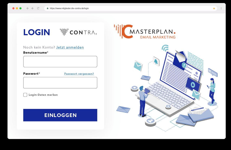 Contra Browser Login Masterplan