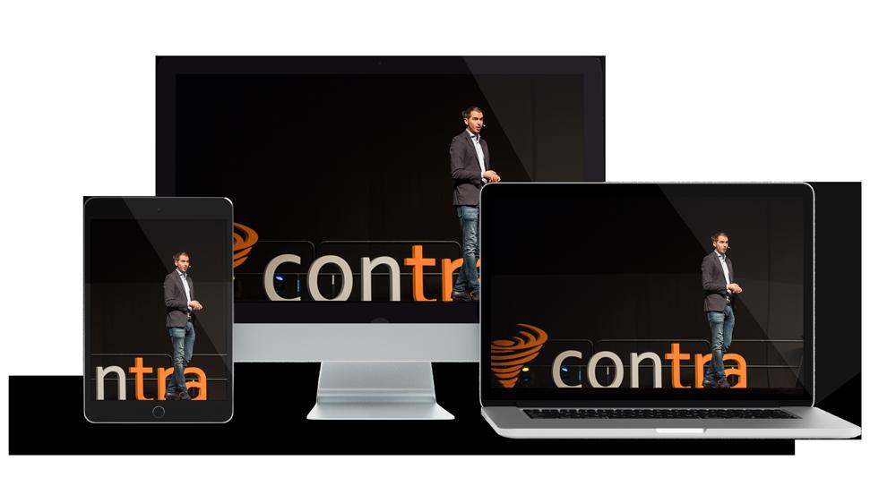 Contra auf verschiedenen Bildschirmen