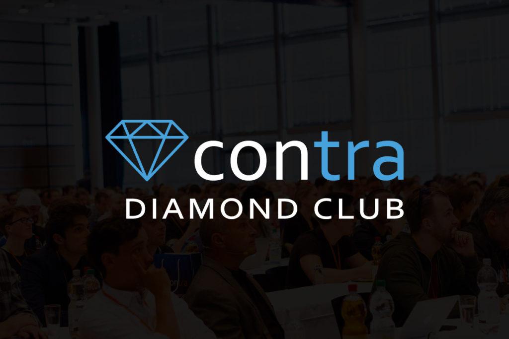 Contra Diamond Club Logo mit Hintergrund