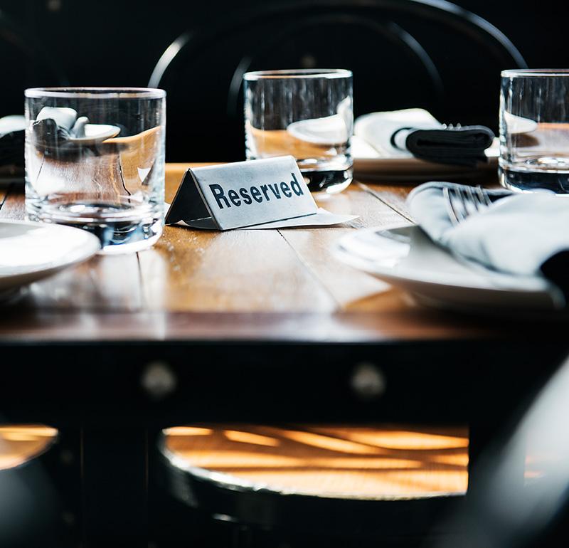 reservierter Tisch