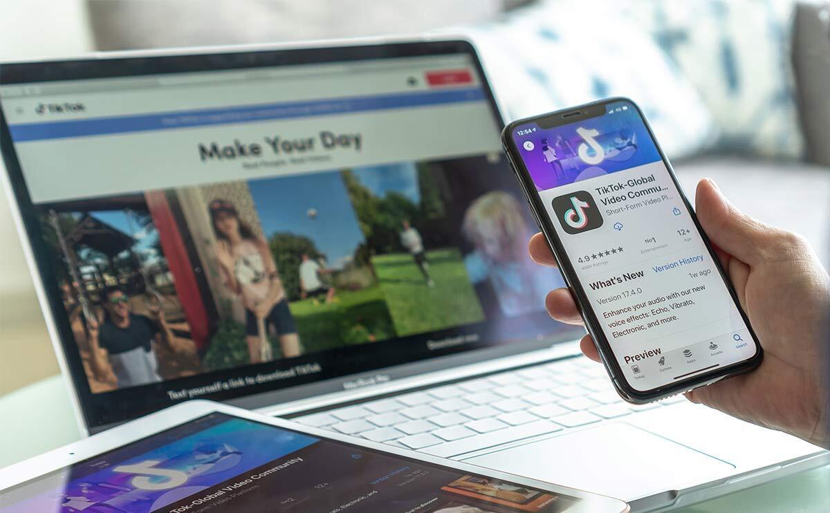 TikTok App auf verschiedenen Devices